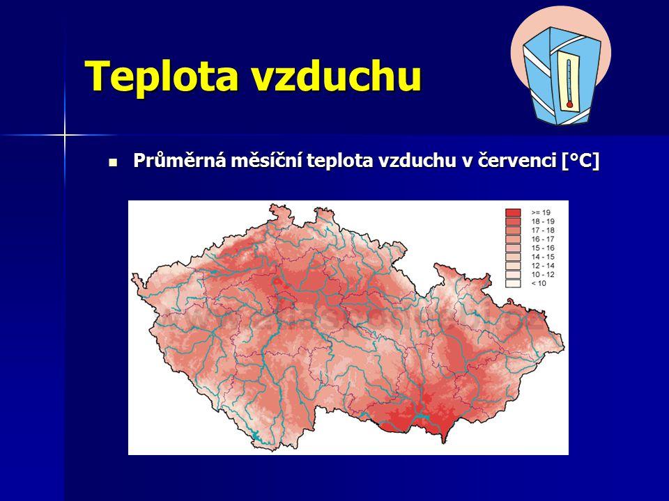 Průměrná měsíční teplota vzduchu v červenci [°C]